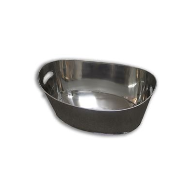 Oval Party Tub Silver