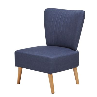Ribbed-back Room Chair Blue