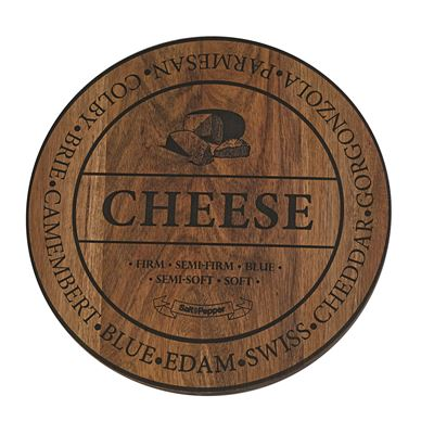 Fromage 40Cm Round Wooden Cheese Board