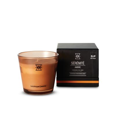 Serenite Candle Pot Ambre 9cm