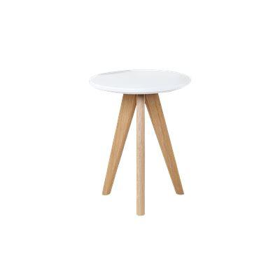 Kari Side Table White & Oak Small