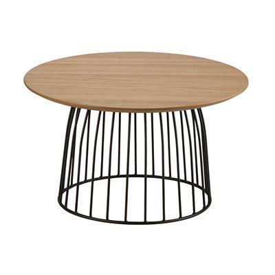 Hendrik Side Table Black & Oak 60cm