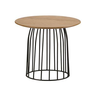 Hendrik Side Table Black & Oak 45cm