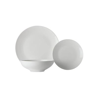 White Basics Tribeca Coupe Dinner Set 18Pc Gb