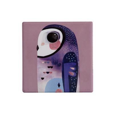 Pete Cromer Ceramic Coaster 9.5cm Owl