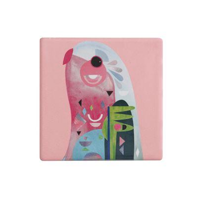 Pete Cromer Ceramic Coaster 9.5cm Parrot