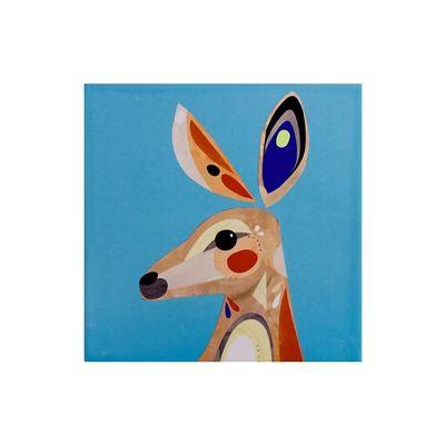 Pete Cromer Ceramic Square Trivet 20cm Kangaroo