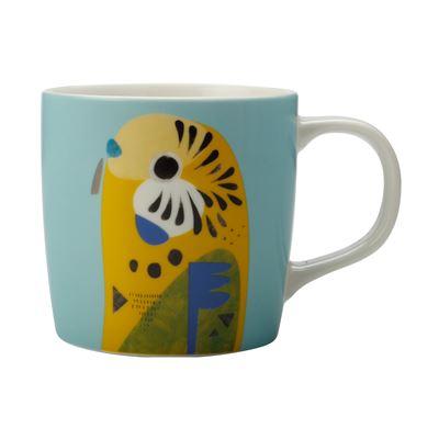 Pete Cromer Mug 375Ml Budgerigar Gb