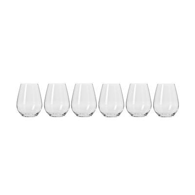 Harmony Stemless Wine Glasses 400Ml 6Pc