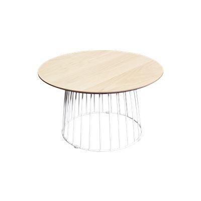 Hendrik Side Table White & Oak 60cm
