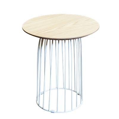 Hendrik Side Table White & Oak 45cm