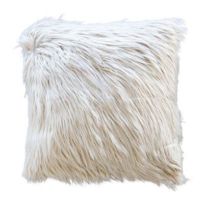 Elsie Faux Fur Cushion Taupe