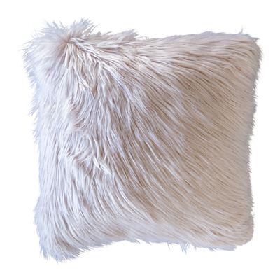 Elsie Faux Fur Cushion Blush
