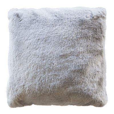 Marley Faux Rabbit Fur Cushion Charcoal
