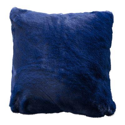 Marley Faux Rabbit Fur Cushion Navy