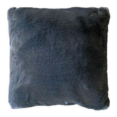 Marley Faux Rabbit Fur Cushion Grey