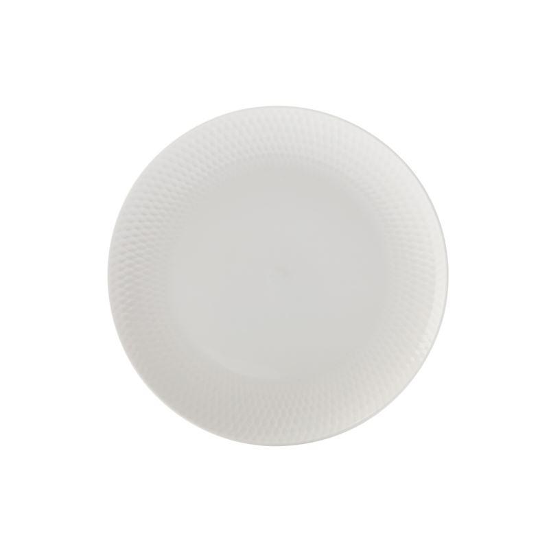 White Basics Diamon Side Plate 18Cm