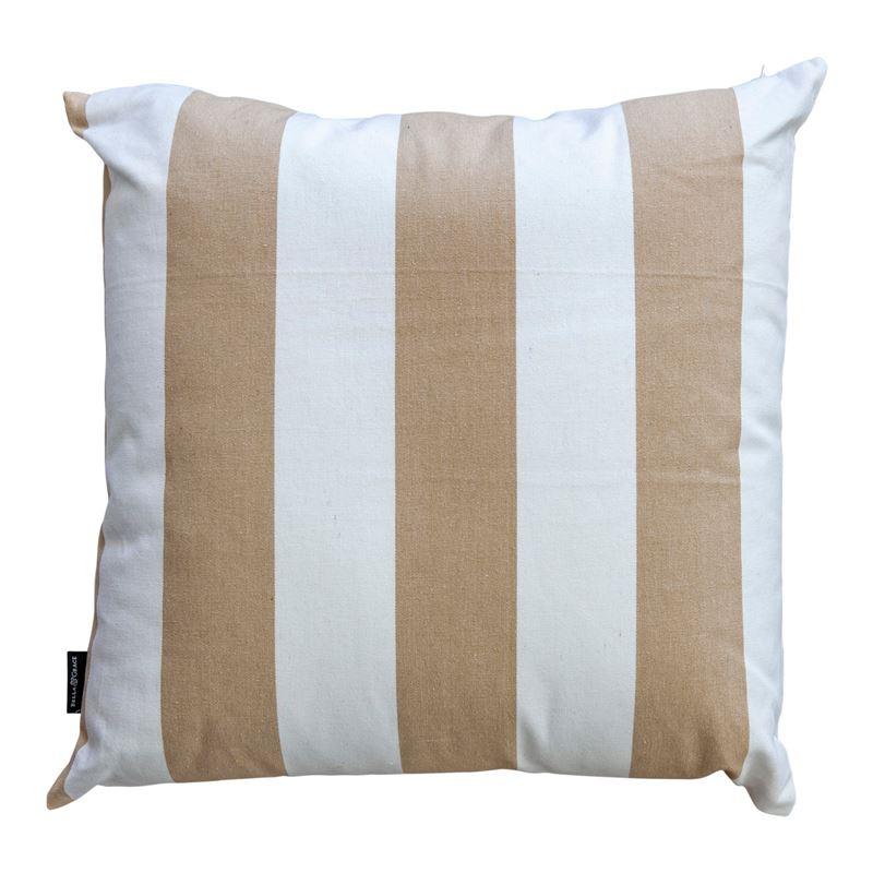 Stripe Cushion 45x45cm Taupe