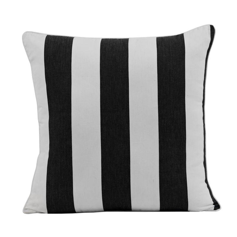 Stripe Cushion 45x45cm Black