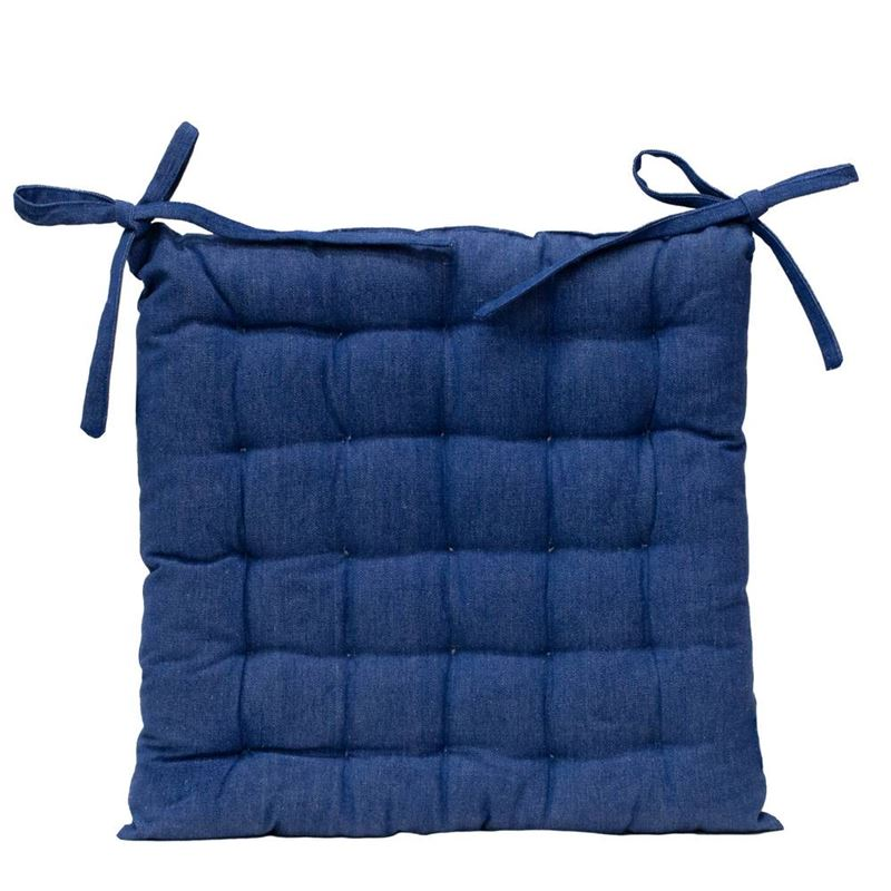 Solid Chair Pad 40x40cm Blue