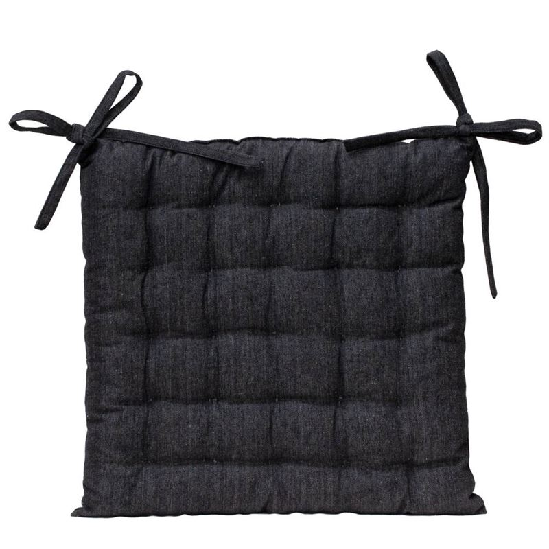 Solid Chair Pad 40x40cm Black