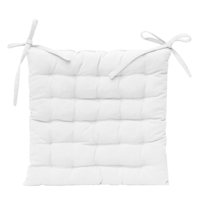 Solid Chair Pad 40x40cm White