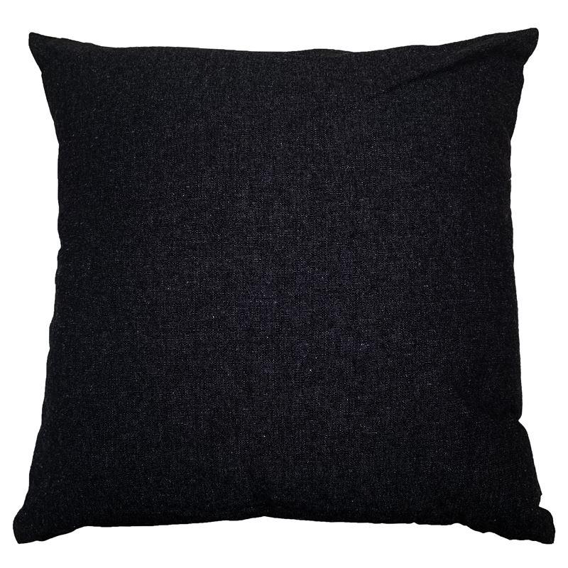 Solid Cushion 45x45cm Black