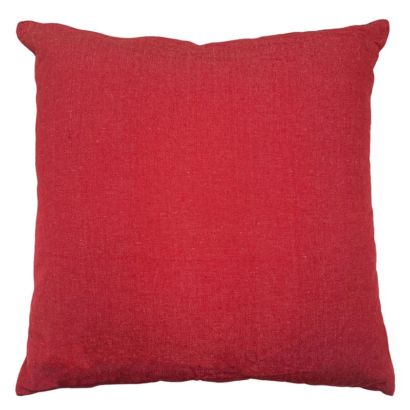 Solid Cushion 45x45cm Red