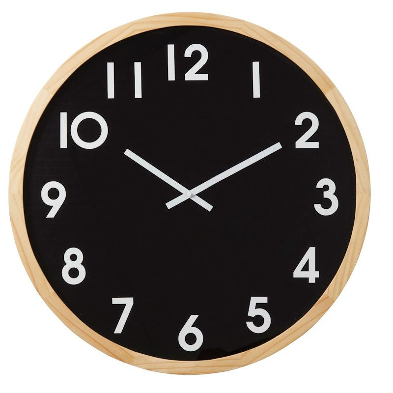 Leonard Wall Clock 61cm Black