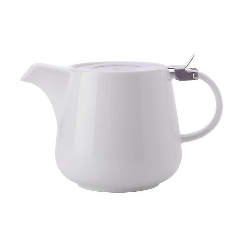 MW White Basics Teapot with Infuser 1.2L White Gift Boxed