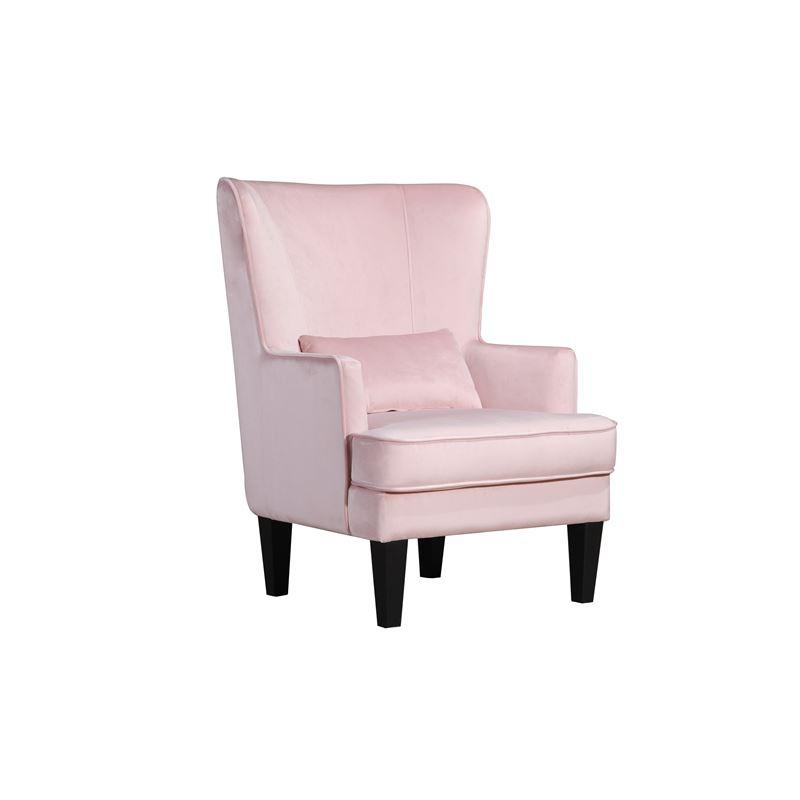 Grand Armchair Pink Velvet