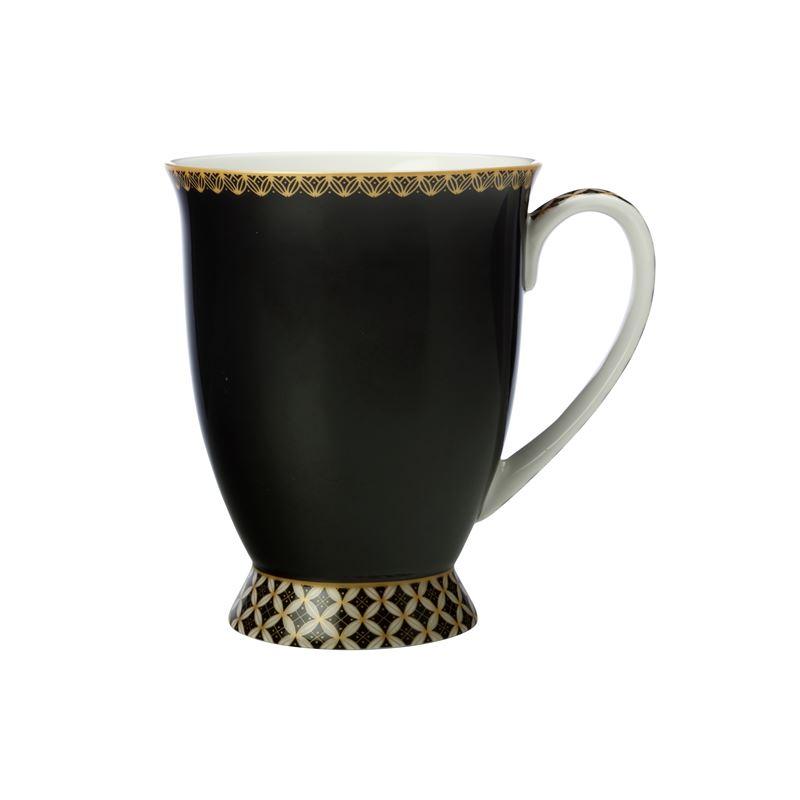 Teas & C's Classic Footed Mug 300ML Black Gift Boxed