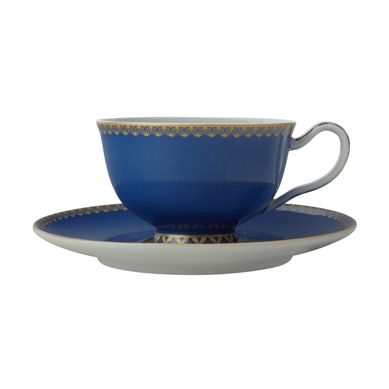 Teas & C's Classic Footed Cup & Saucer 200ML Blue Gift Boxed