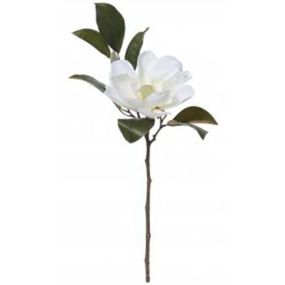 Grand Magnolia Flower Spray White