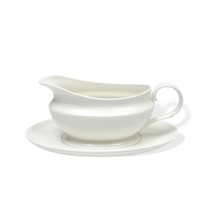 White Basics Gravy Boat & Saucer 550Ml