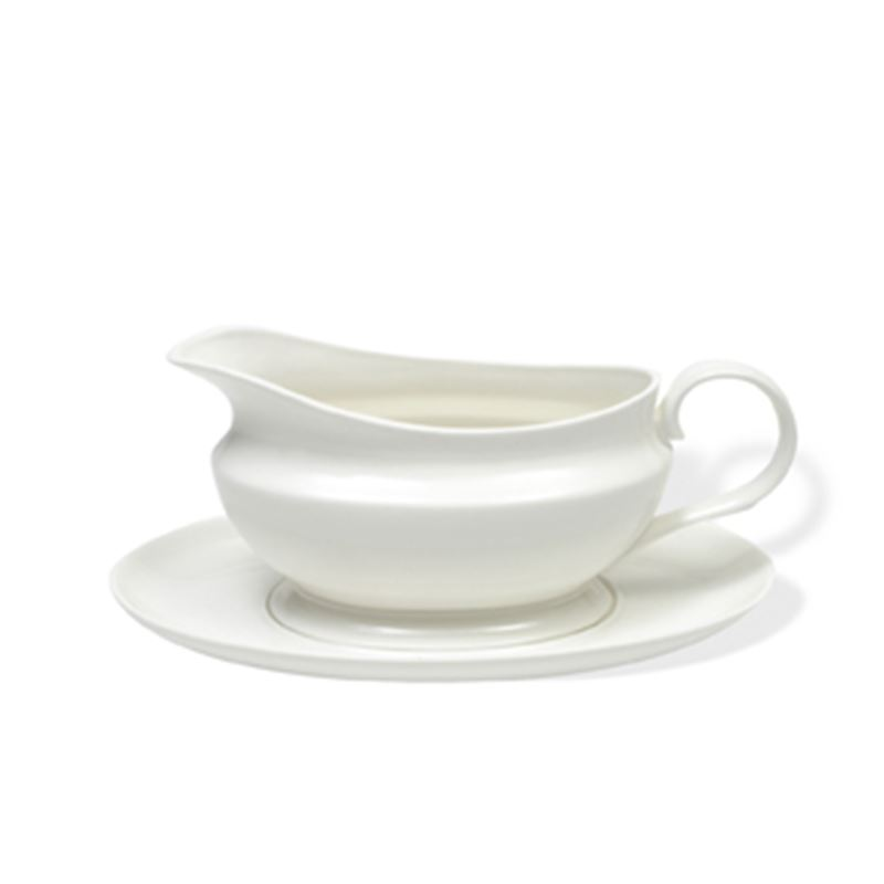 White Basics Gravy Boat & Saucer 550Ml