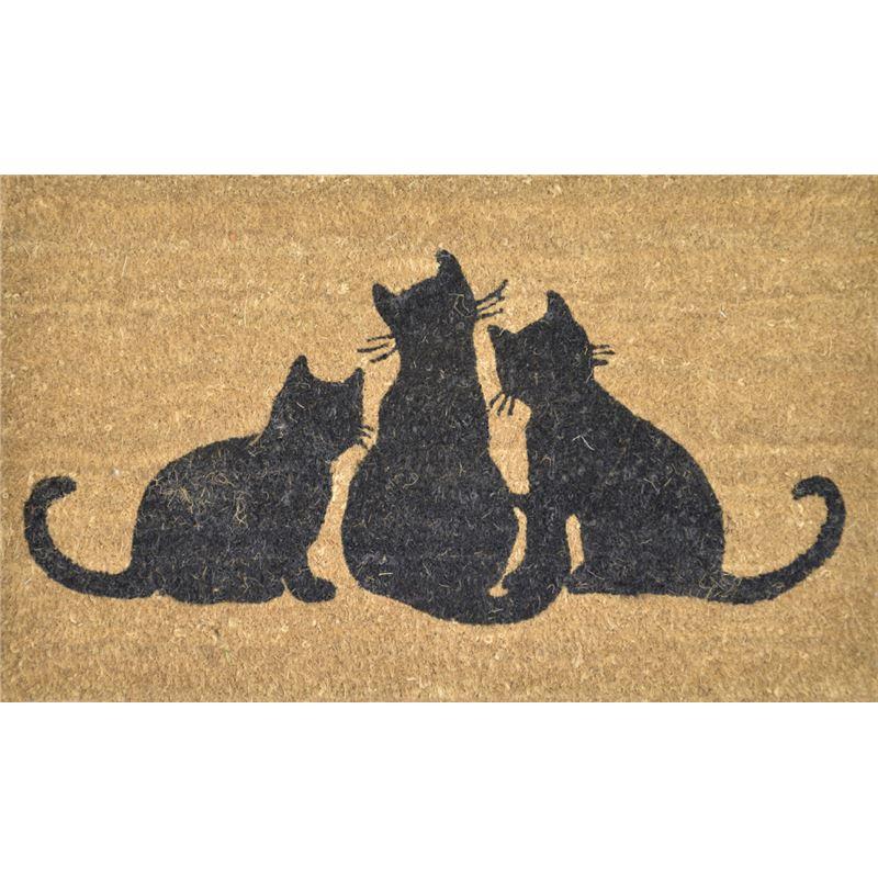 PVC Back Coir Cats Door Mat 45x75cm
