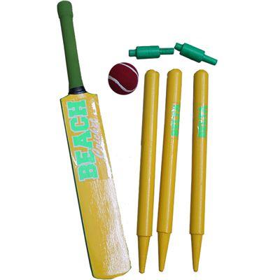 Cricket Set Wood Green&Gold Mini c50