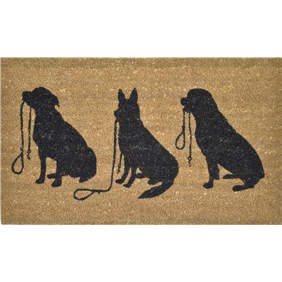 PVC Back Coir 3 Dogs 45x75cm