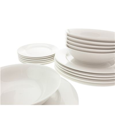 White Basics Euro Dining Set 18Pc Gb