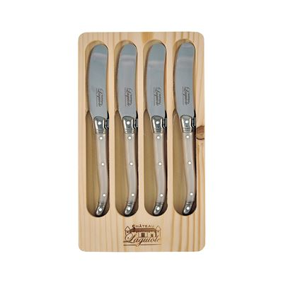 Laguiole Pate Knife Mother of Pearl 4 Piece