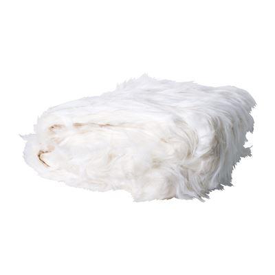 White Faux Fur Throw 125X150Cm White