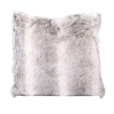 Husky Faux Fur Cushion 50X50Cm Grey