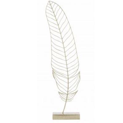 Golden Feather Sculpture Gold 16.5X71Cm