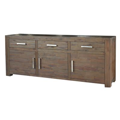 Manhattan Sideboard 3 Doors 3 Drawers Walnut