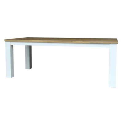 Brighton Dining Table 220 Surf top/White