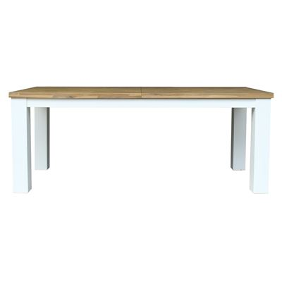 Brighton Extension Dining Table Surf Top/White