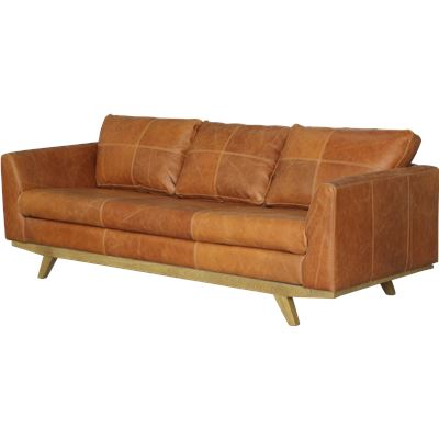 James 3 Seater Sofa Brown