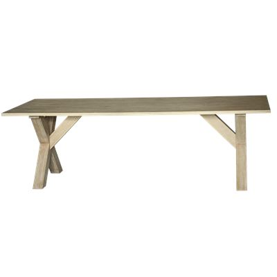 Cross Dining Table White Wash 240