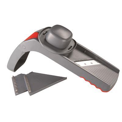 Folding Mandolin Slicer 5 Cutting Blades With Handy Storage Box